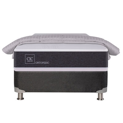 Box Spring CIC 1 Plaza New Ortopedic + Plumón