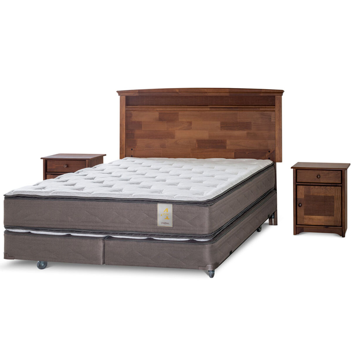 Box Spring Rosen King BD Venetto + Maderas