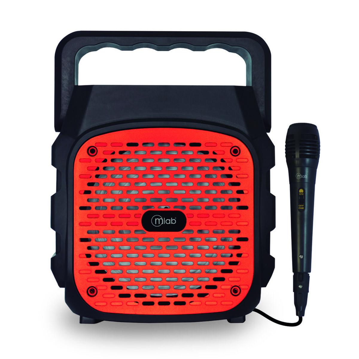 Parlante Bluetooth Karaoke Portátil MLab Outdoor FUN Rojo