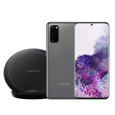 """Celular Samsung Galaxy S20 128GB 6,2"""" Gris Liberado + Cargador Inalámbrico"""