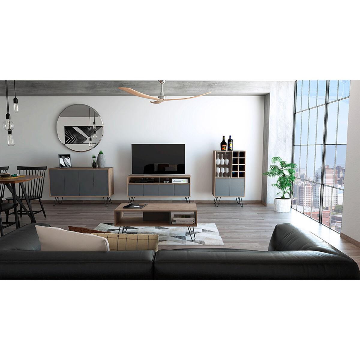 "Rack Tv 55"" + Bar + Bife + Mesa Centro Vassel"
