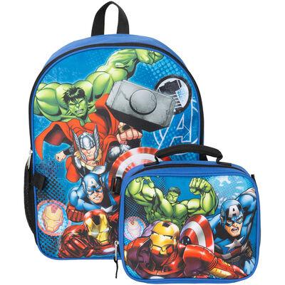 Mochila Con Lonchera Avengers