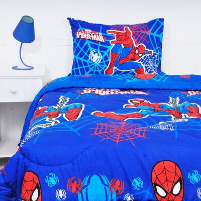 Plumón Spiderman Webs 1,5 Plazas