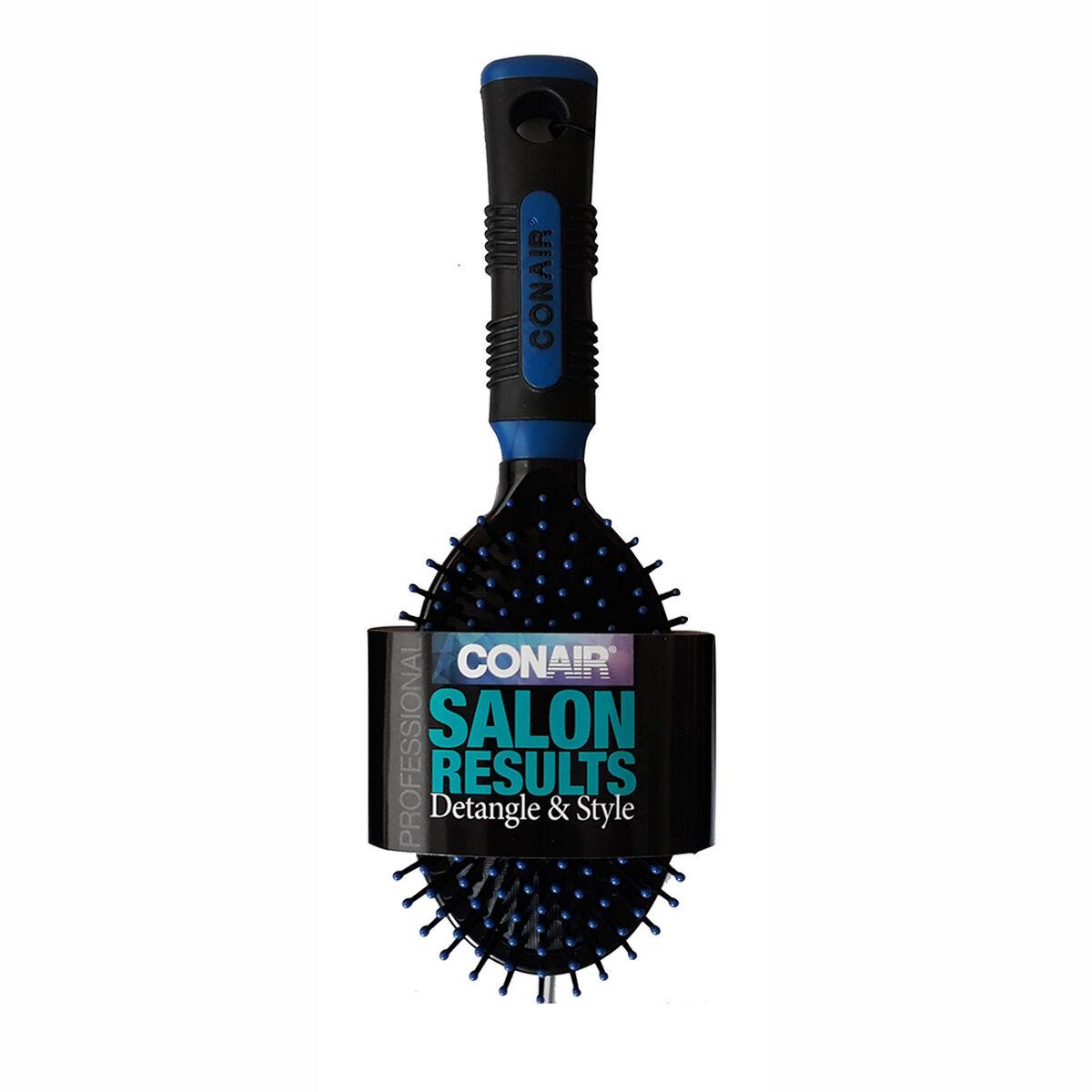 Cepillo Ovalado Acolchado Salon Results Azul