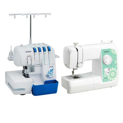 Máquina Overlock Brother 3534DT + Máquina de Coser y Remendar Brother JS2135