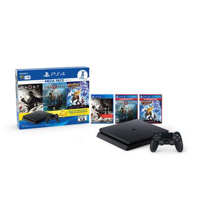 Consola Sony PS4 MegaPack 18 1TB + 3 Juegos PS4