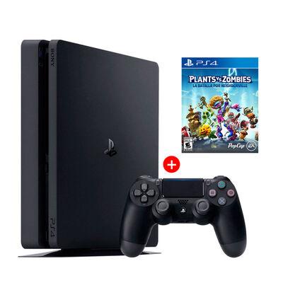 PS4 Sony 500GB Reacondicionada Americana + 1 Mando Inalámbrico DualShock + Juego PS4 Plants vs. Zombies: Battle for Neighborville