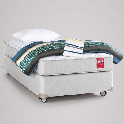 Combo Cama Americana 1 Plaza Rosen Beat + Textil + Almohada