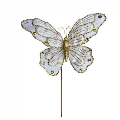 Mariposa Deco Champagne Santini 33 cm