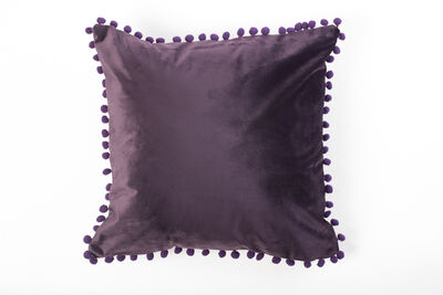 Cojín Velvet con Pompones 45X45 cm
