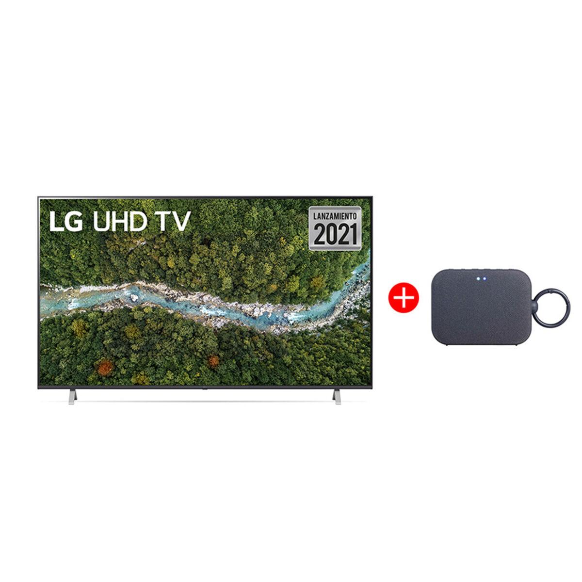"Combo LED 55"" LG 55UP7750PSB Smart TV 4K UHD 2021 + Parlante Bluetooth PM1 Azul"