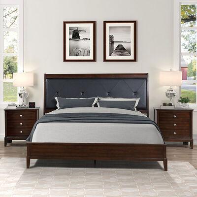 Combo Marquesa Dreams 2 Plazas Oxford + Colchón Rosen New Style + 2 Veladores Dreams
