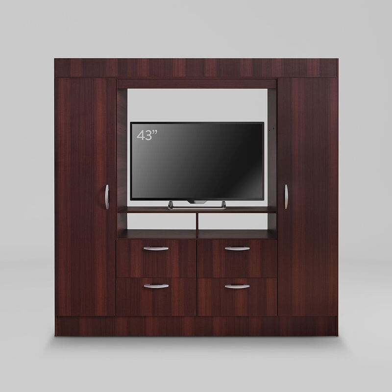 """Clóset Baker TV 43"""" 2 Puertas 4 Cajones"""