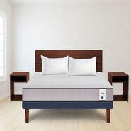 Cama Europea Cic New Titan 2 Plazas + Set Maderas Nogal + Pack Almohadas Imperial Soft 45x65 cm