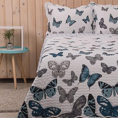 Cubrecama Dreams 2 Plazas Estampado Butterfly
