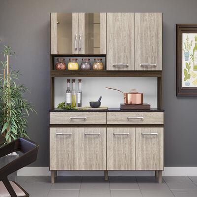 Mueble de Cocina Solar Café 8 Puertas 2 Cajones