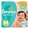 Pañales PAMPERS Confort Sec Talla M 40unids