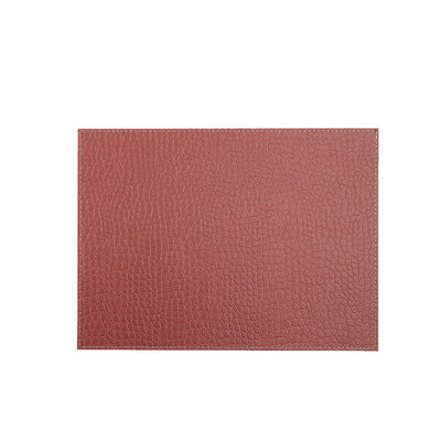 Set 4 Individuales de Mesa Via Deco Clasic Exotic Cocodrilo Rojo 42 x 32 cm
