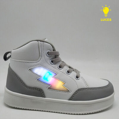 Zapatilla Con Luces Niño Chess