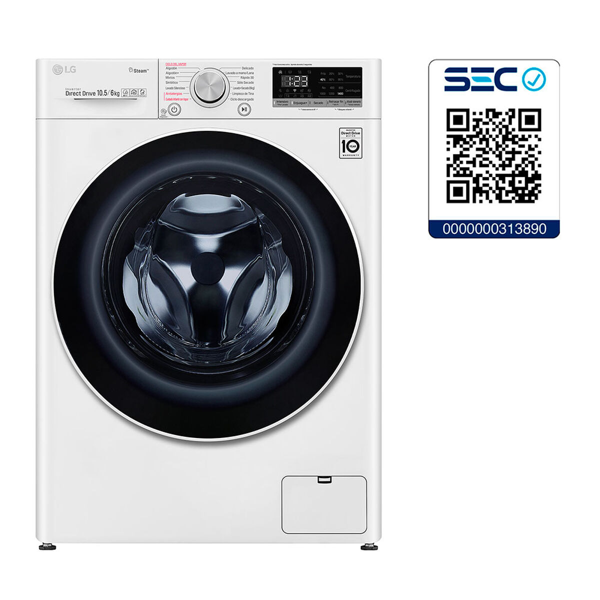 Lavadora Secadora LG WD10WVC4S6 10,5 kg/6 kg