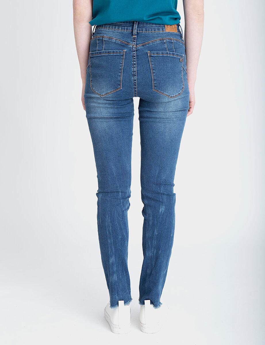 Jeans Indigo Mujer Fiorucci Push Up Tachas