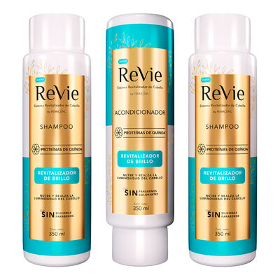 Revie 2 Shampoo + Acondicionador Revitalizador Brillo