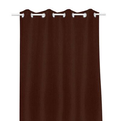 Cortina Mashini Blackout Argolla 140x220 cms Chocolate