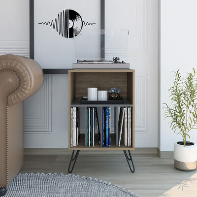 Mueble Funcional  TuHome Vassel Miel/Plomo