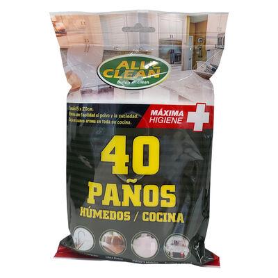 Paños Húmedos Multiuso Cocina Allclean 30 x 25 x 30 cm