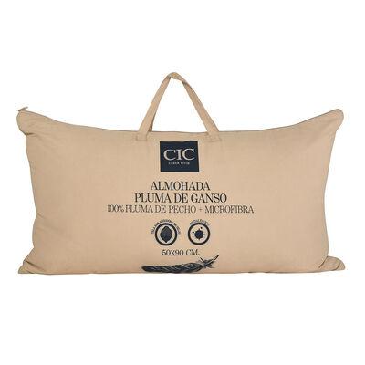 Almohada CIC 100% Pluma De Ganso + Microfibra King 50 X 90 cm