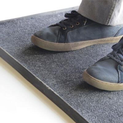 Secador de pies 60 x 40 Par Cuatro Negro