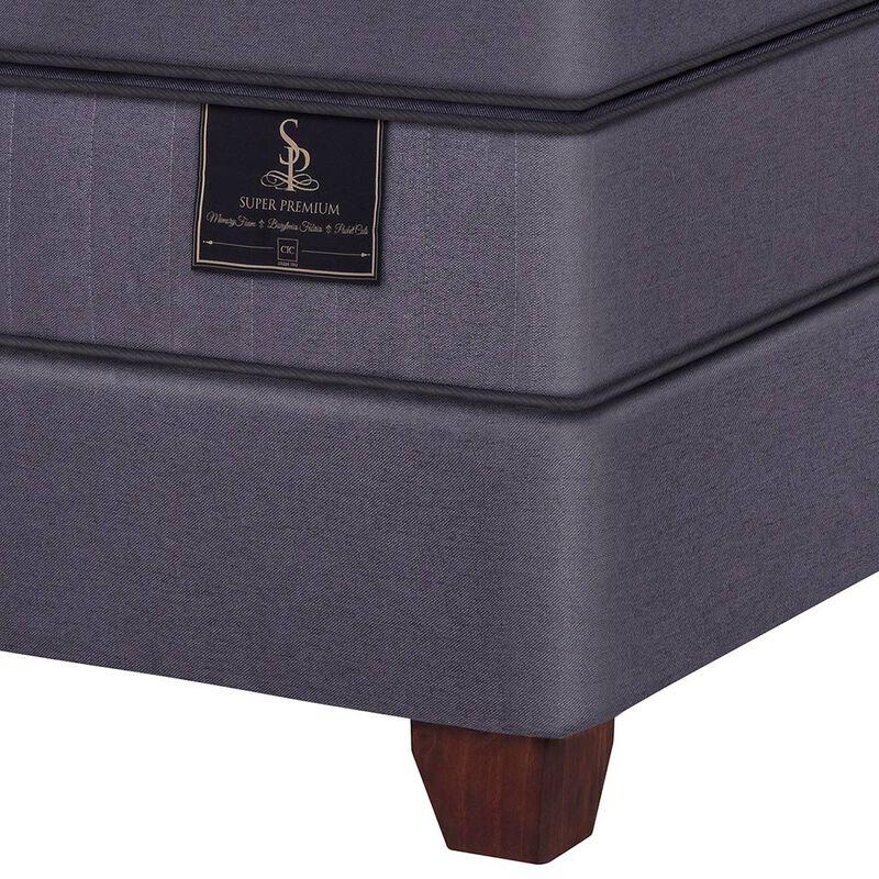 Box Spring Super Premium CIC King + Set Maderas Torino Choc