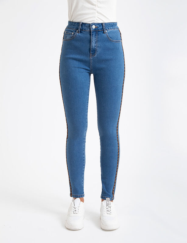 Jeans Icono Tape Animal Print