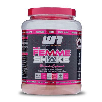 Proteína Mujer Whey Femme Shake Frutos Del Bosque 1 Kg. 30 Servicios