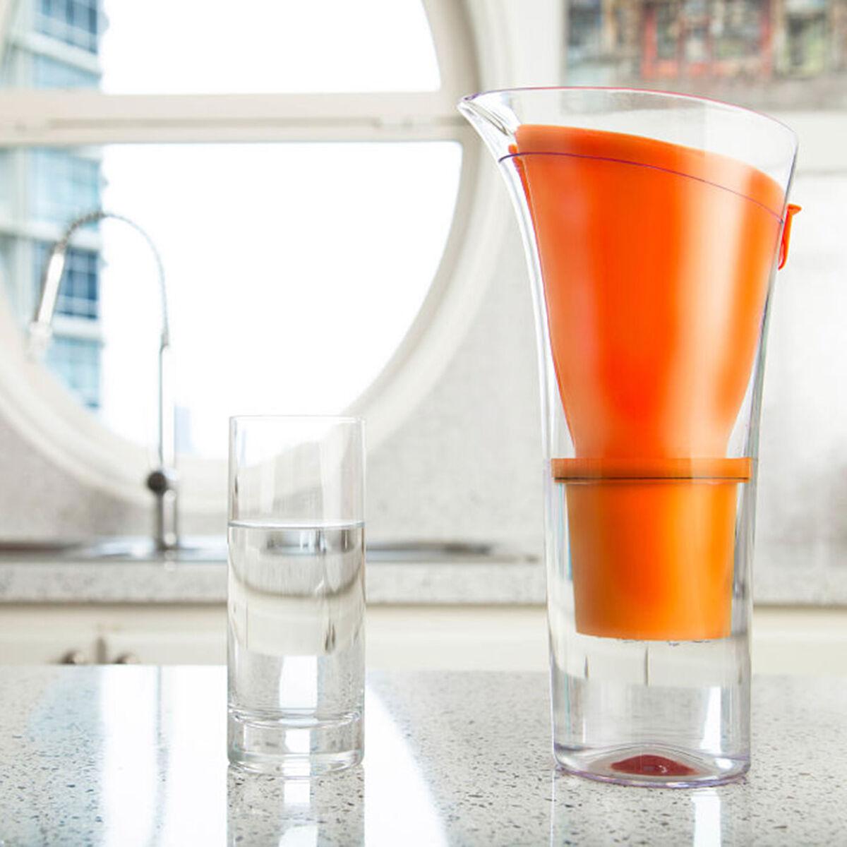 Jarro Purificador de Agua + Botella Hidrogenadora Dvigi Naranja