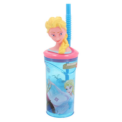 Vaso Tomajugo Figura 3D Frozen Celeste