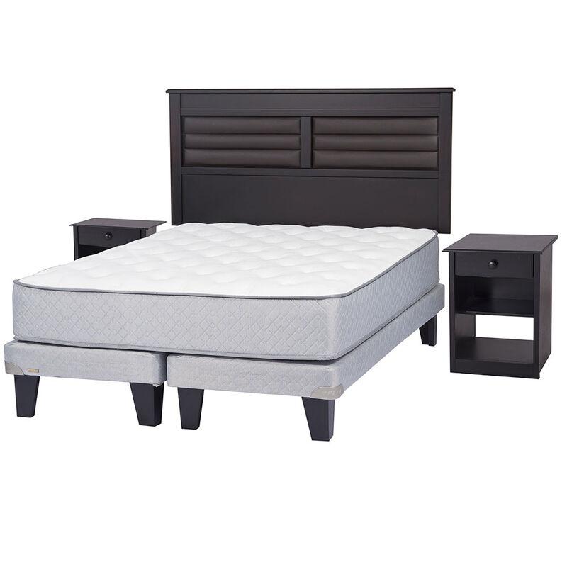 Cama Europea 2 Plazas Div Adapta 6 + Set Maderas New Florencia