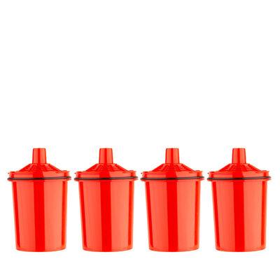 Pack 4 Filtros de Jarro Purificador Agua Dvigi Rojo