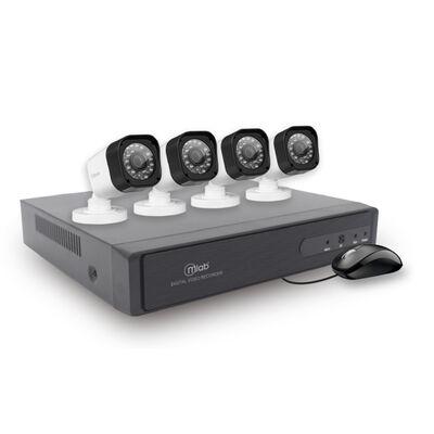 Kit 4 Cámaras de Seguridad MLab AHD-DVR Security System