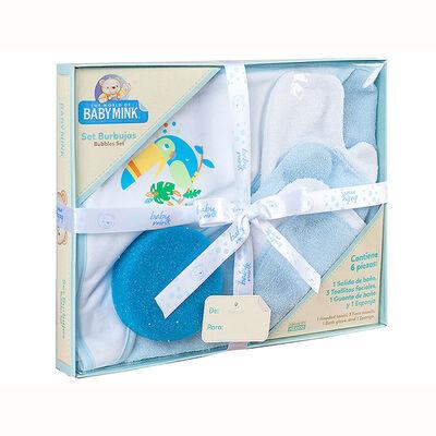 Set de Baño Kit Burbujas Azul Baby Mink
