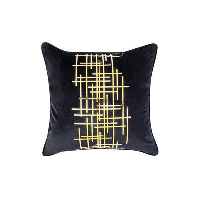 Cojín Decorativo Cuadrado Negro 45X45 Cm
