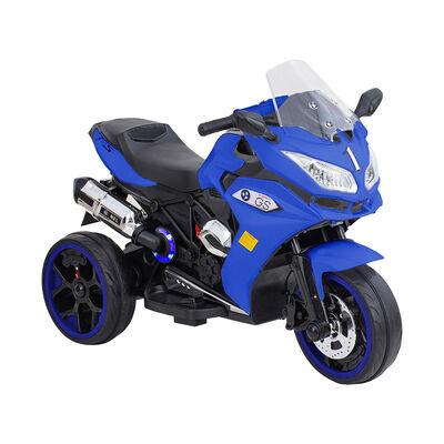 Moto De Carrera A Batería Musical Baby Way Azul