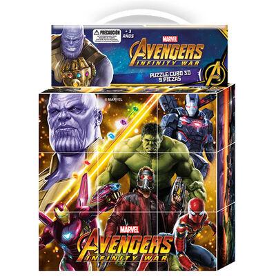 Puzzle Cubos 3D 9 Piezas Infinity War Marvel