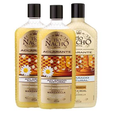 Pack Tío Nacho Aclarante 2 Shampoo + 1 Acondicionador