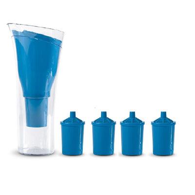 Jarro Purificador de Agua + 4 Repuestos de Filtro Dvigi Azul