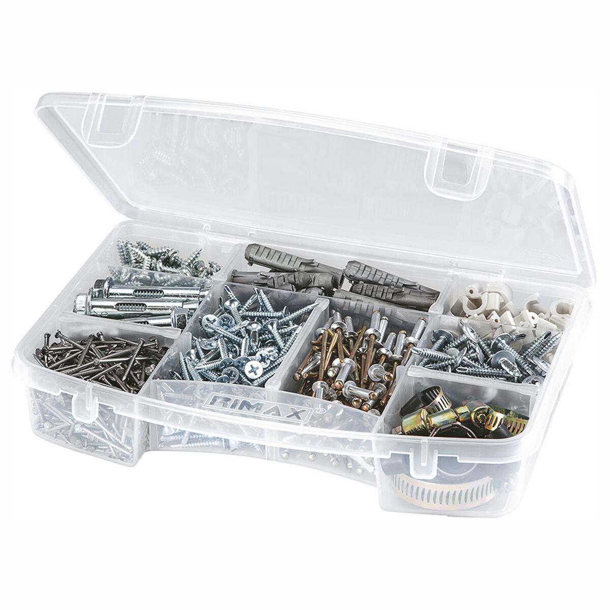 Caja Organizadora  Rimax Transparente De 5 Divisiones