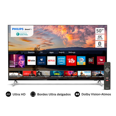 """LED 50"""" Philips 50PUD7625 Smart TV 4K UHD"""