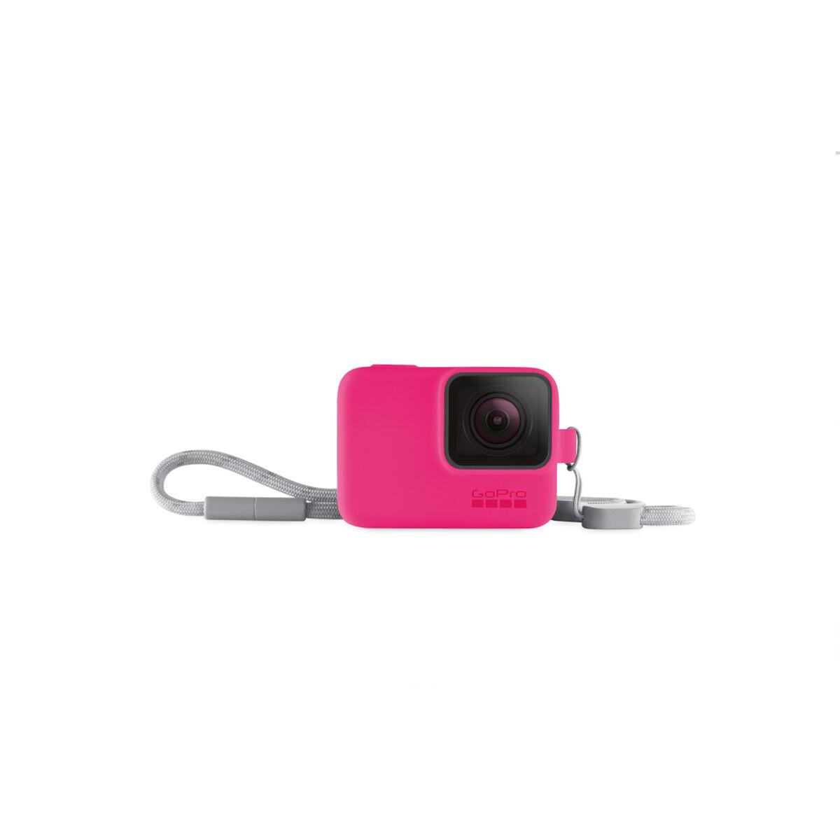 Funda de Silicona + Cordón Rosado para GoPro HERO7
