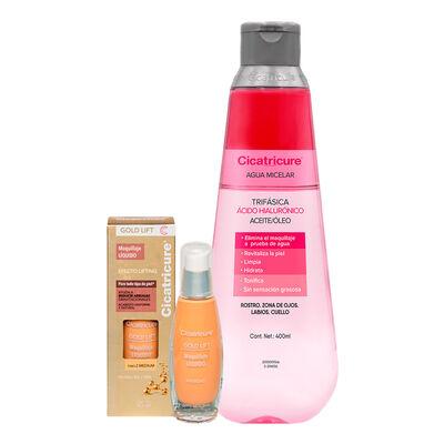 Cicatricure Maquillaje Gold Medio 30 ml + Agua Micelar Trifásica