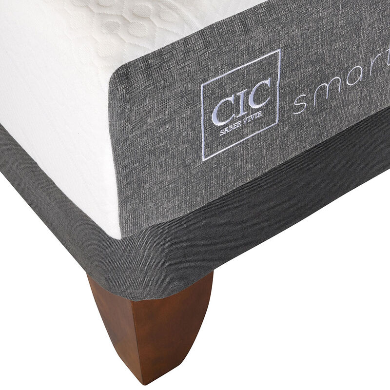 Cama Europea King Smart + Set Maderas Napoles